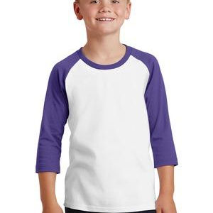 Youth Core Blend 3/4 Sleeve Raglan Tee Thumbnail