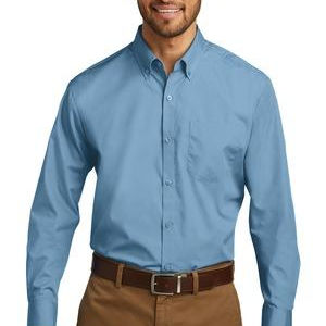 Long Sleeve Carefree Poplin Shirt Thumbnail