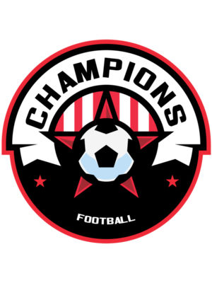 Champions Football logo template